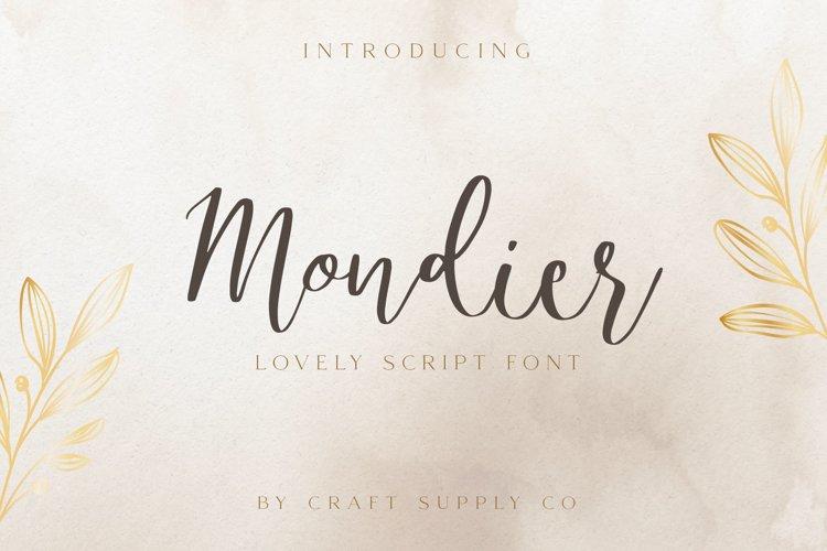 Mondier - Lovely Script Font example image 1