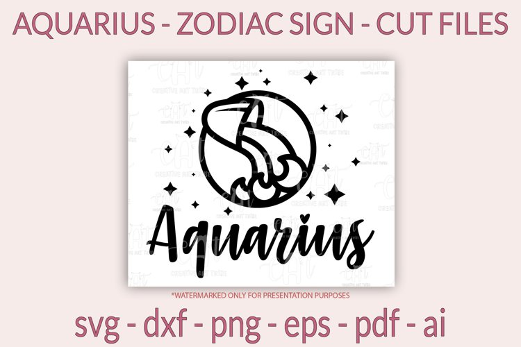 Aquarius SVG - Zodiac SVG - Horoscope SVG - cut files, png