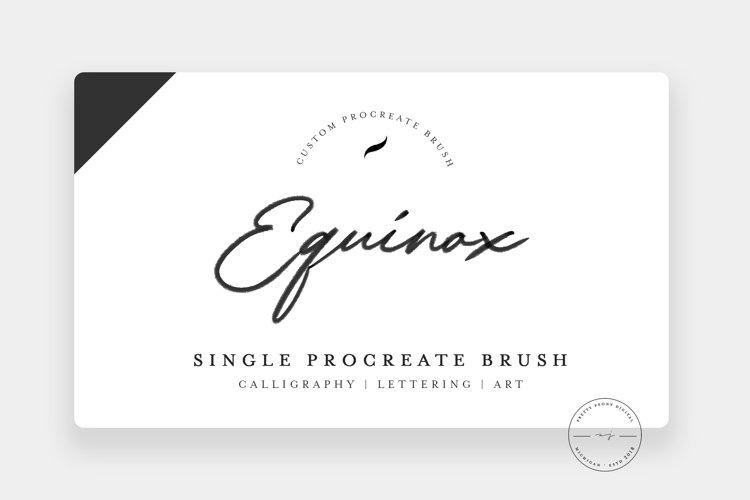 Equinox | Single Procreate Brush, Lettering Brush
