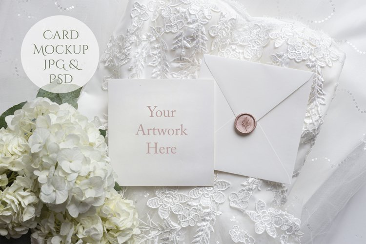 Square Card Mockup wedding theme example image 1