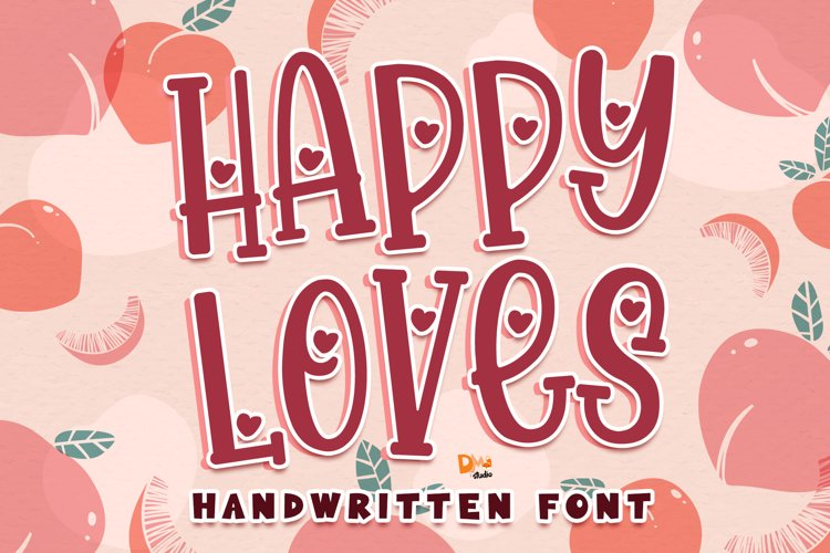 Happy Loves - Lovely Handwritten Font example image 1