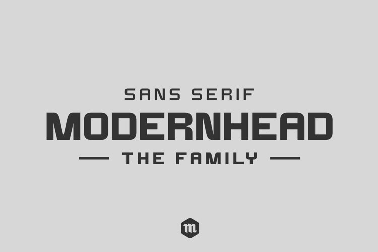 Modernhead Typeface | Font example image 1