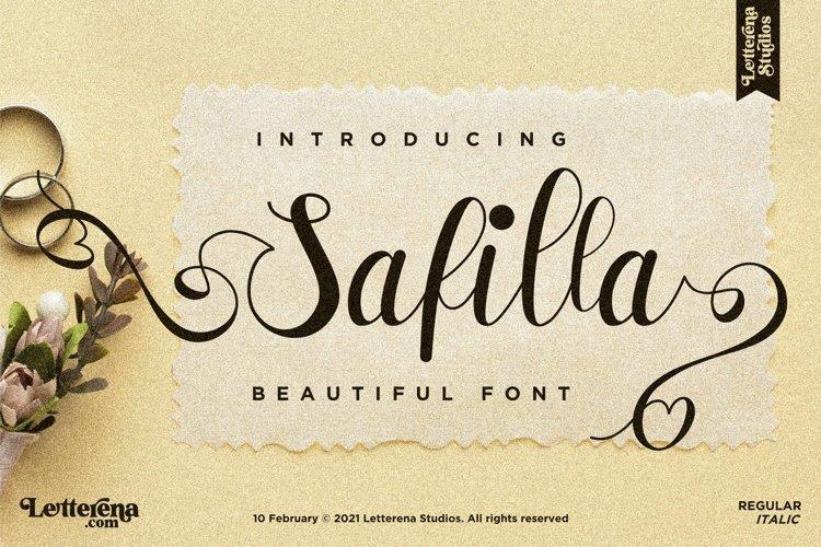 Safilla - Beautiful Script Font example image 1