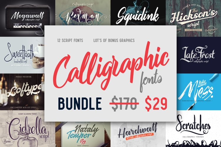 Calligraphic fonts Bundle example image 1