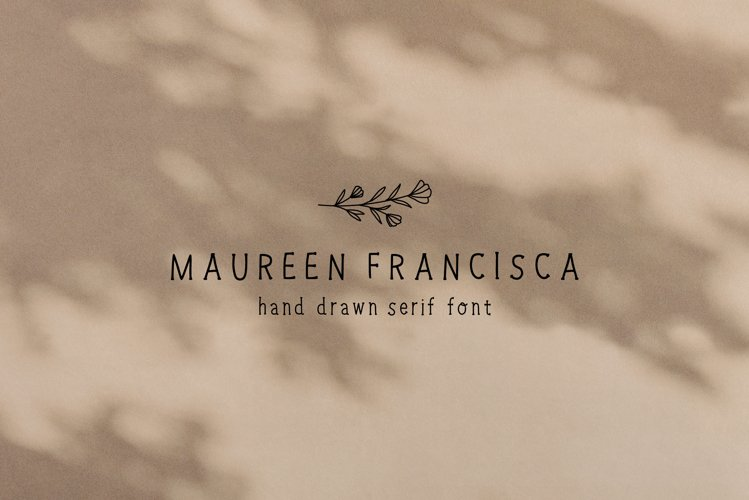 Hand Drawn Serif Font with Illustrations | Handwritten Font example image 1