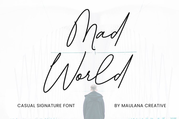 Mad World Casual Signature Font example image 1