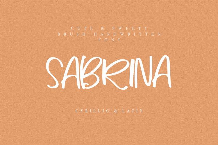 Sabrina Cyrillic & Latin Font example image 1