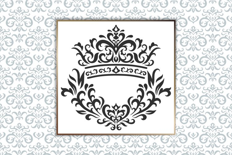 Vintage elements and seamless patterns. Crown and wreath example image 1