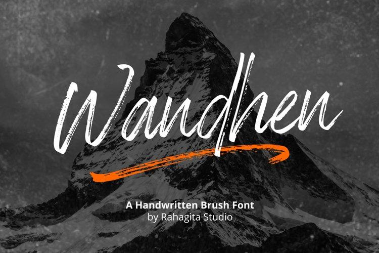 Wandhen - Brush Font example image 1