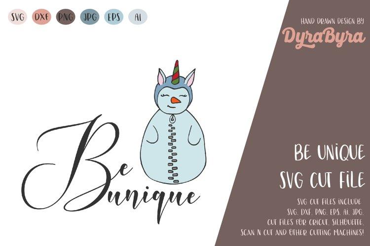 Be Unique SVG / Snowman SVG / Unicorn SVG / Christmas SVG example image 1