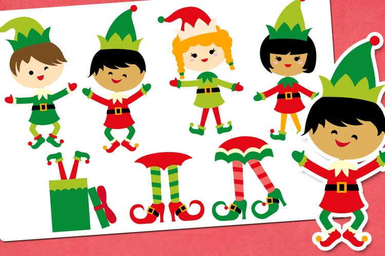 Christmas Elf Party Illustrations
