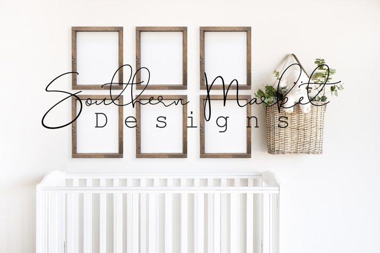 Set of 6 8x10 Nursery Sign Mock Up Wood Frame Styled Photogr