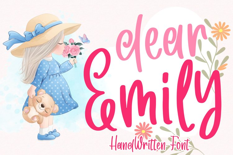 Dear Emily - Cute Handwritten Font example image 1