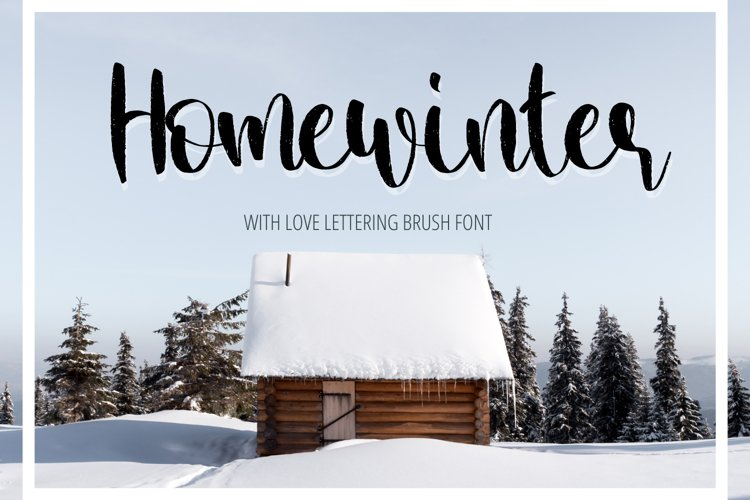 Home Winter-Special Handwritten Font For Craft example image 1