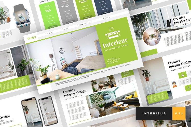 Interieur - Interior Design Google Slides Template example image 1