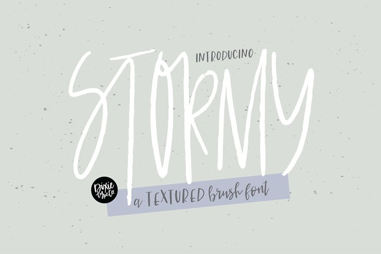 STORMY a Textured Brush Font example image 1