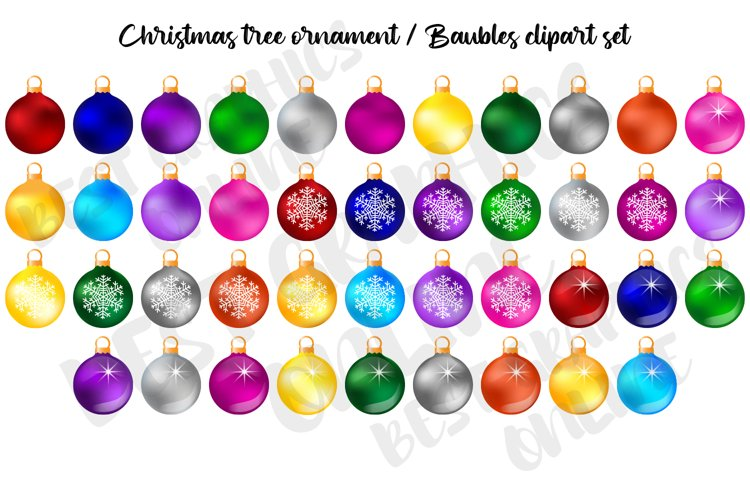 Christmas ornament clipart, Baubles Clipart, Holiday Clipart