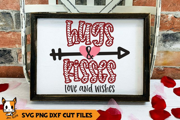 Valentine's Day SVG | Hugs & Kisses Love and Wishes example image 1