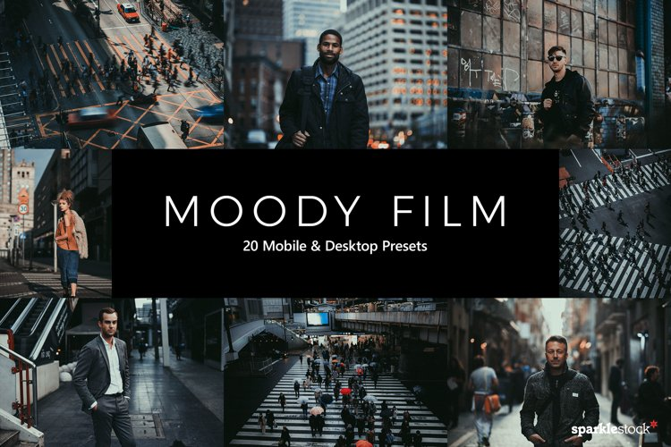 20 Moody Film Lightroom Presets & LUTs example image 1