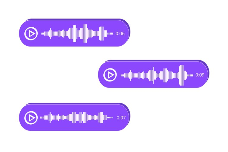 Voice Messages icon, event notification. Vector illustration example image 1