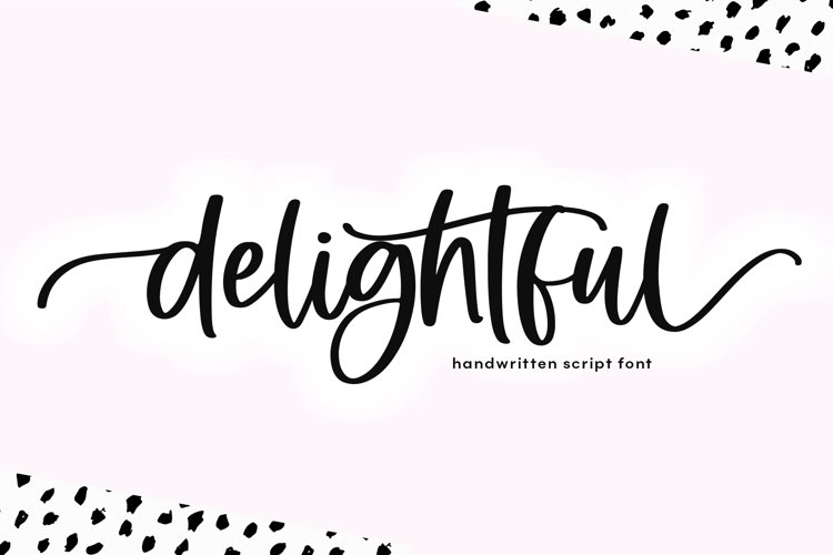Delightful - Modern Script Font example image 1