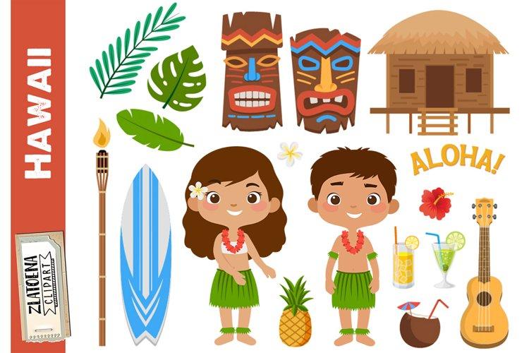 Hawaii clipart Tropical clipart Luau clipart Travel clipart