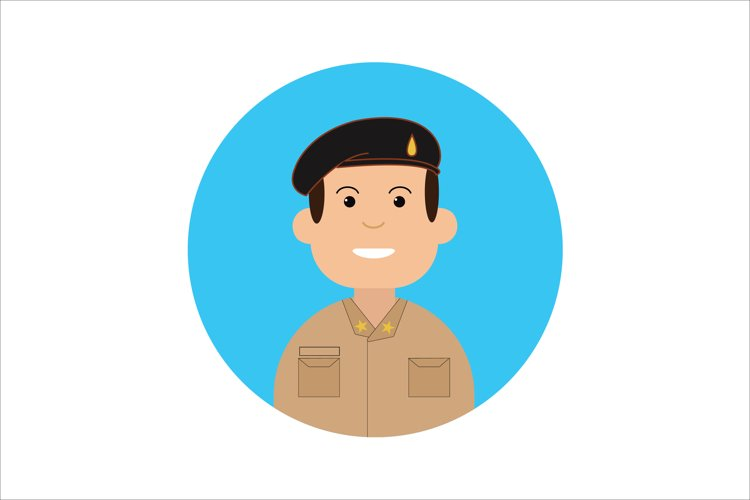 Icon Character Police with Brown Uniform example image 1