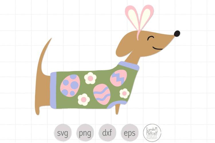 Dachshund svg for Easter, Easter svg for Kids, Dog svg
