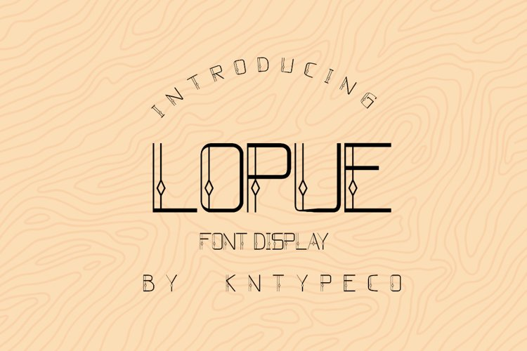 Lopue display example image 1