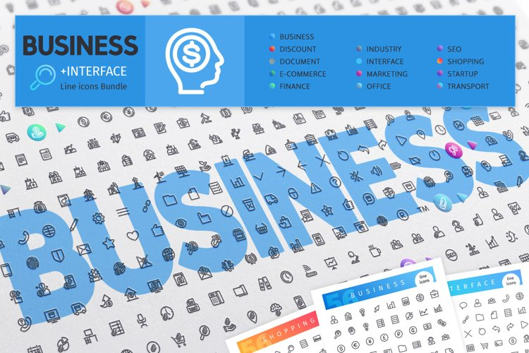 Business 700 Line Icons Bundle example image 1