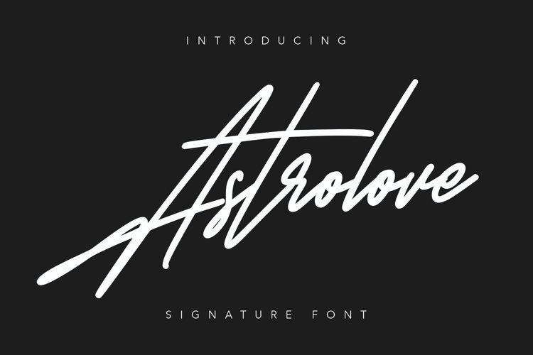 Astrolove Signature Font example image 1