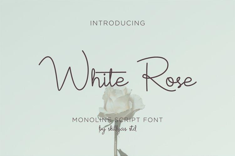 White Rose - monoline script font example image 1