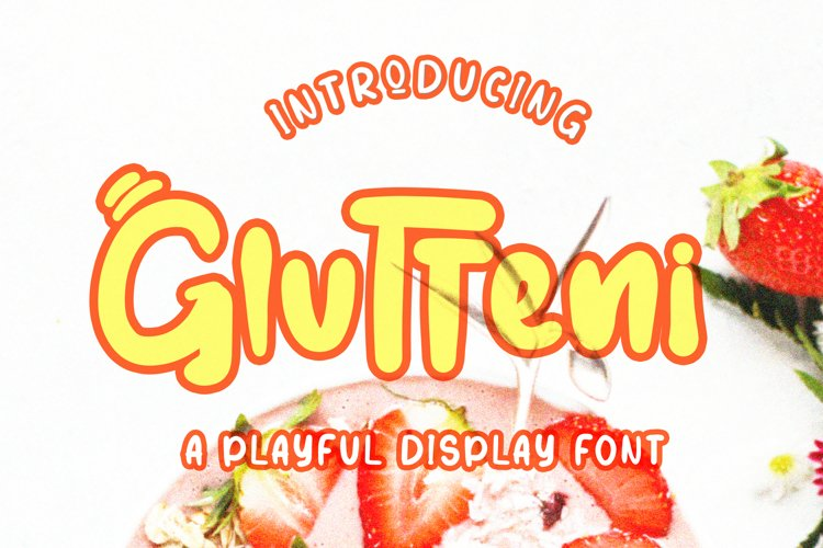 Glutteni Playful Font example image 1