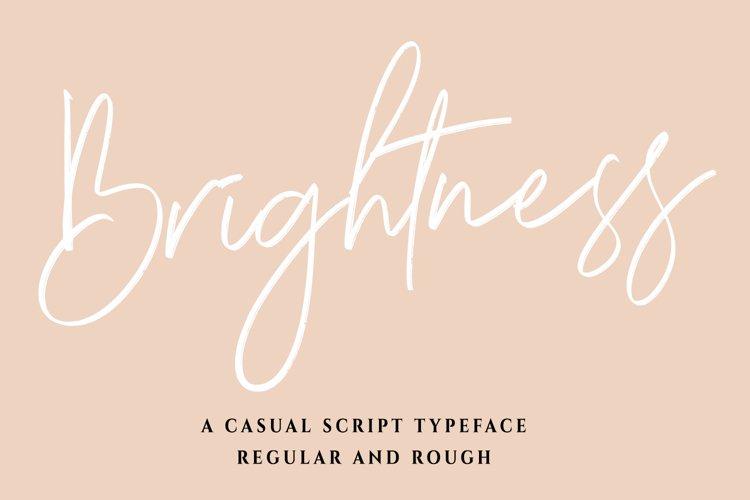 Brightness - a Brush Script Font