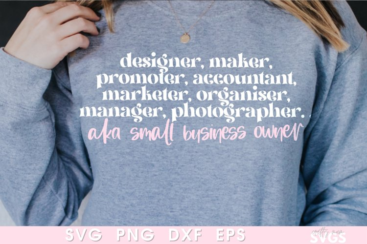Small Business Owner SVG | Shop Small Sweater Cut File | example