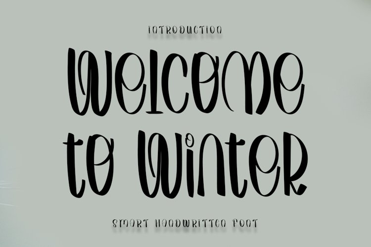 Welcome to Winter - Smart Handwritten Font example image 1