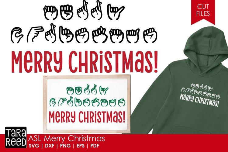 ASL Merry Christmas - Sign Language SVG & Cut Files
