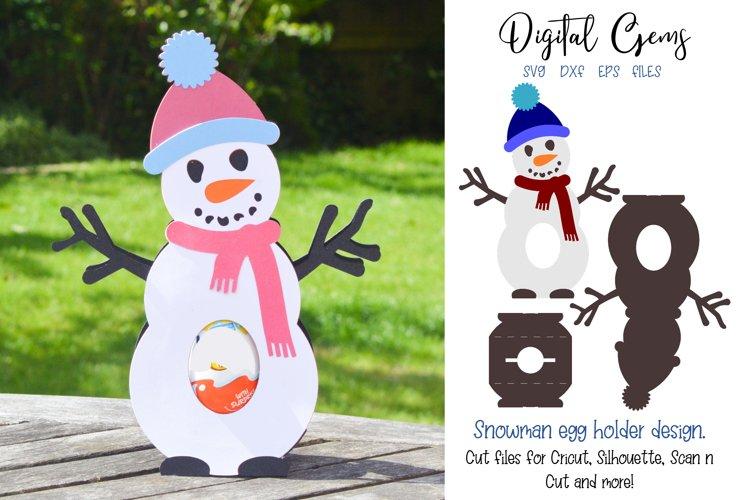 Snowman, Christmas egg holder design SVG / DXF / EPS files example image 1
