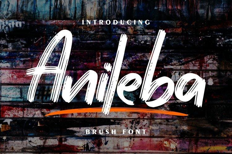 Anileba   Brush Font example image 1