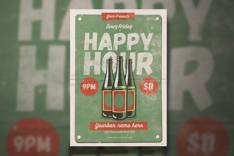 Vintage Happy Hour Flyer