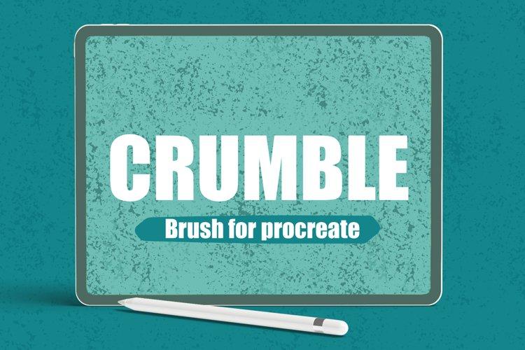 Crumble Texture Procreate Brush example image 1