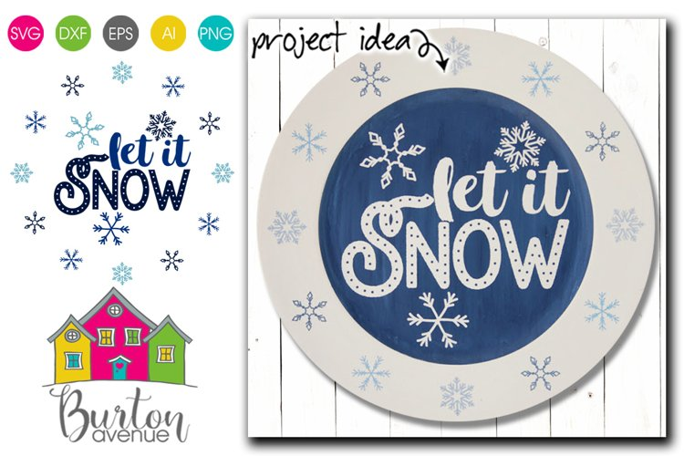 Let it Snow Winter SVG File example image 1