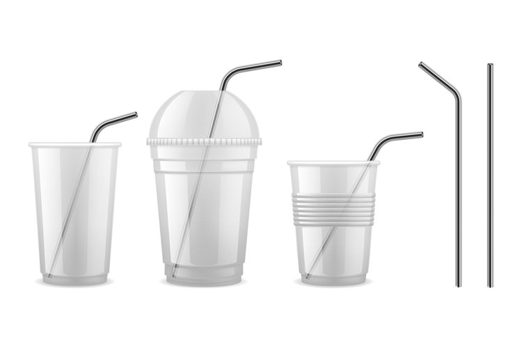 Metal drinking straw. Reusable steel straw cocktail equipmen example image 1