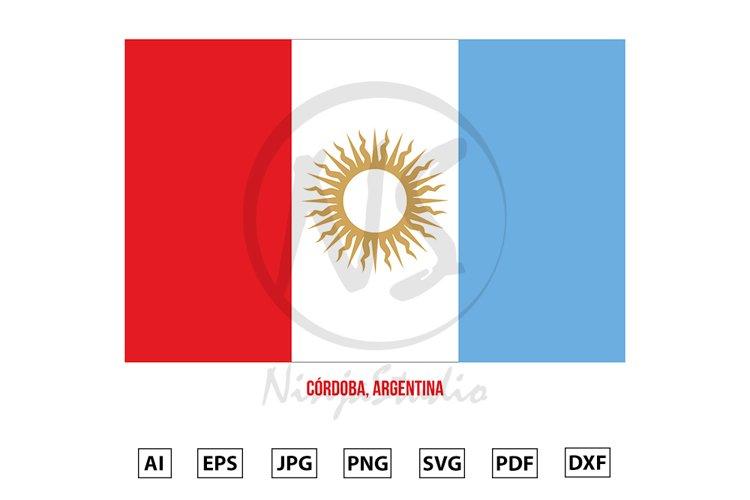 Cordoba Flag Vector Illustration. Flag of Argentina Province example image 1
