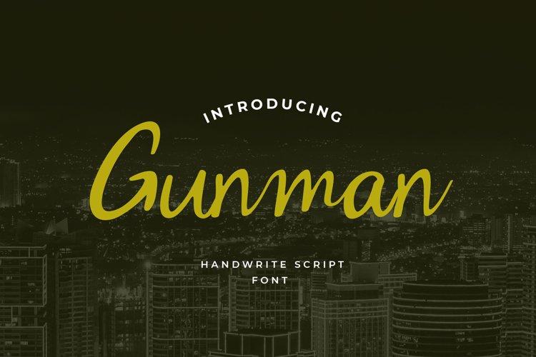 Gunman Handwritten Font example image 1