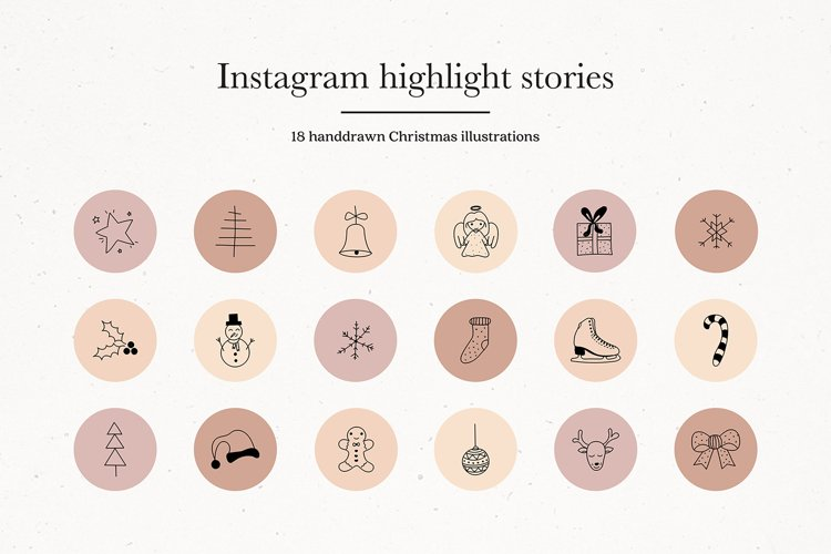 Instagram Christmas Story Highlights Icons Covers example image 1