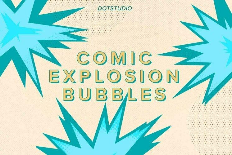 Comic Explosion Bubbles