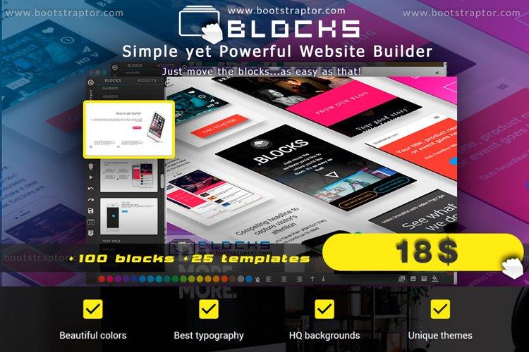 EVO BLOCKS Bootstrap 3 framework example image 1