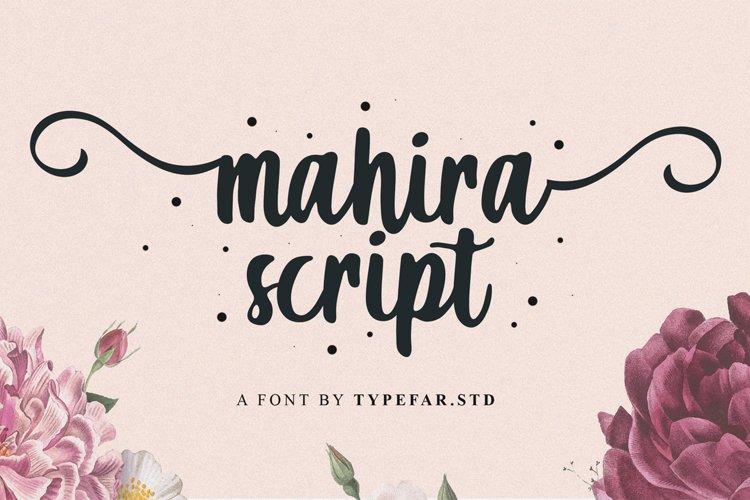 Mahira   Sweet Script Font