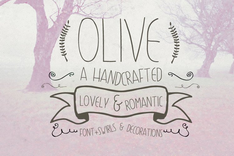 Olive Hand Drawn Font  Decorations